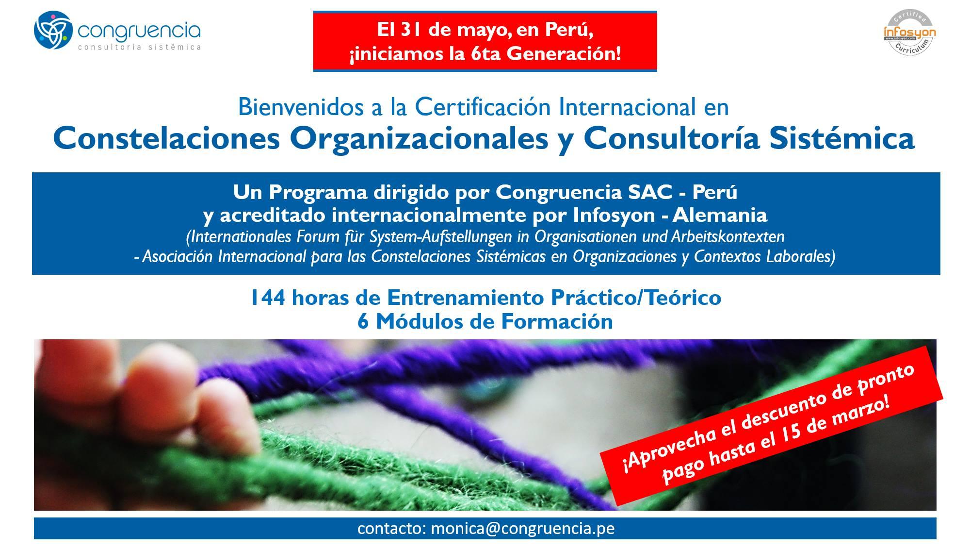 Certificación en Constelaciones Org. y Consultoría Sistémica 6G